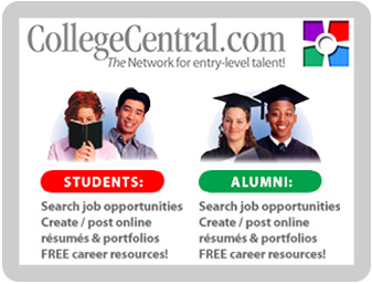 College Central Logo. Click here to be redirected to the College Central Web Poral for Students and Alumni.