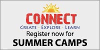 Connect, Create, Explore, Learn. Register now for Summer Camps