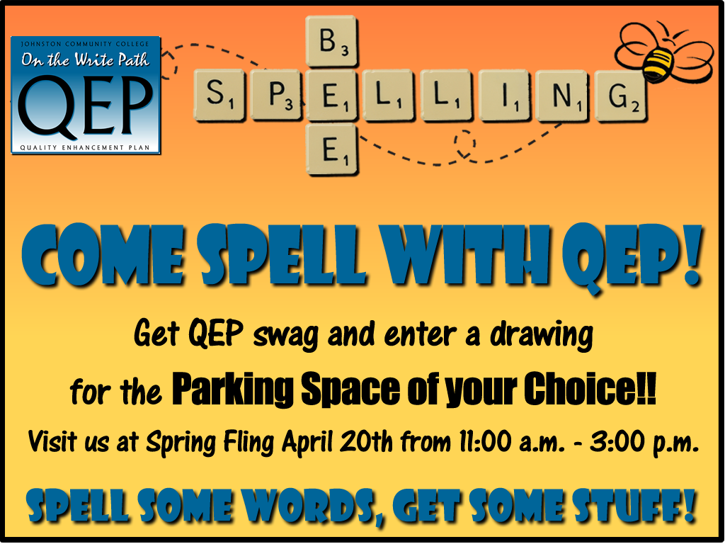 Ad for QEP spelling bee