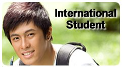International student button